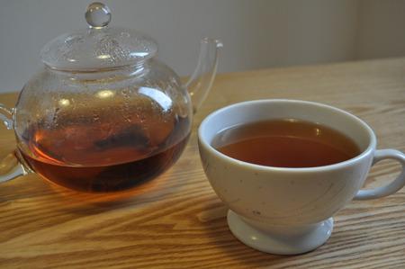 しかし紅茶はすごくいい塩梅で入って美味い。