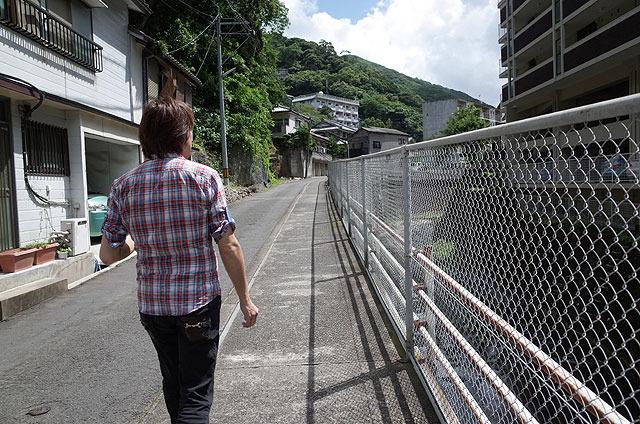 唐川さんがここを歩こうと思ったきっかけのひとつが「長崎犯科帳」(主演:萬屋錦之介)だったという。