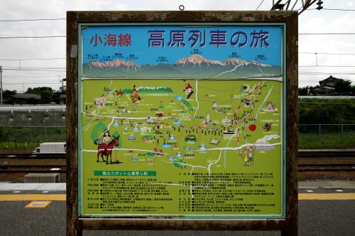 小淵沢駅には、小海線界隈の見所案内があった