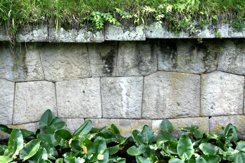 幕末に築かれたものなだけあって、石垣技術も高度だ