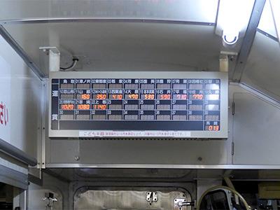 降りる時にはこの料金表を見てお金を払うというバスのようなシステムです