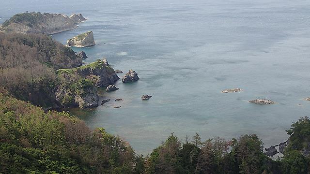 目の前にはこの絶景である。反射してしまっているが海の底まで完全に見える。