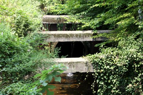そして、比留川の流れは地中の下水管へと消えた