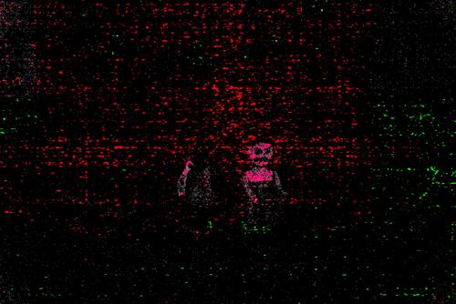 フォトショップで無理矢理露光を上げるとエクトプラズムみたいに。