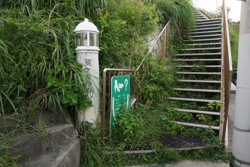 草に覆われているが「城ヶ島灯台公園」とある。