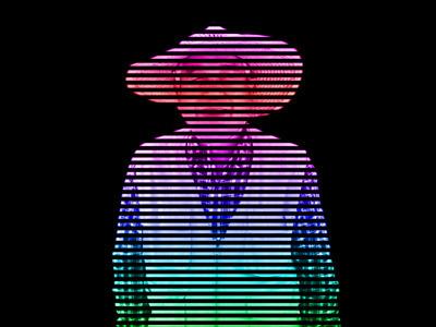 虹色縞々おじいさん。
