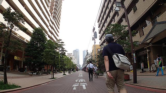 ブロードウェイを歩く。