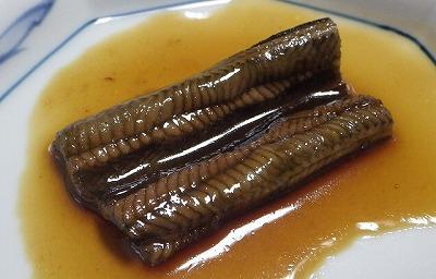 煮アナゴを模した煮タウナギ