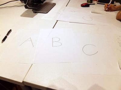 3枚とも違う種類のコピー用紙