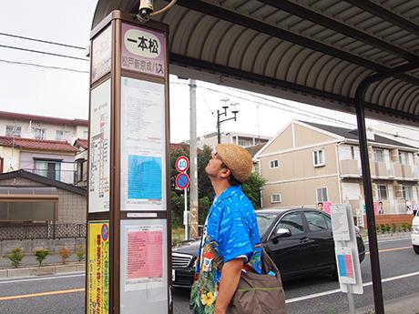 一本松バス停(千葉県松戸市 松戸新京成バス)