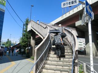 なお、この三者が同時に撮影できるスポットはこの歩道橋の上からだけ