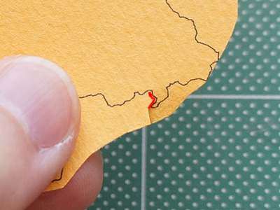 逆に切り込む赤い線の部分(南牧村の余地峠付近)が一番面倒だった。