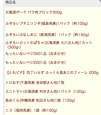 そのOisixのユーザーページに、注文履歴一覧があるのだ。