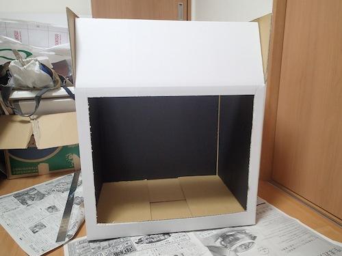 底の黒紙は敷くだけにして汚れた時に交換可能にする。無駄に本気な仕様。