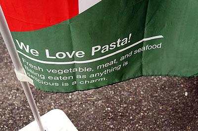 下にも上と同じ文章。そして見出しは「パスタ大好き!」