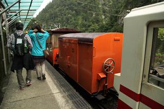 僕たちの乗ってきた列車にもかわいい貨車がついていた