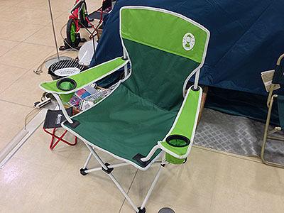 このコールマンの折りたたみ椅子なんて完全にキムワイプだ。