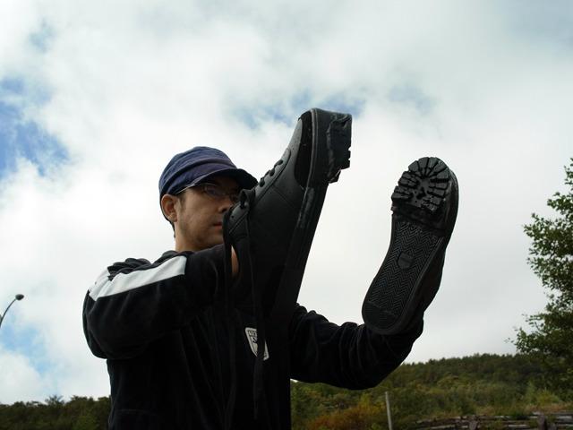 この靴に履き替えて!