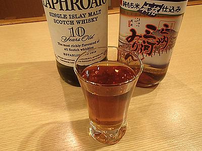 次はウイスキーで本直しです。