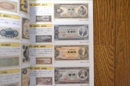 昔のお札(「知育アルバム4 世界のお金200」講談社より)