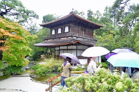 入ってすぐに銀閣寺で戸惑う。