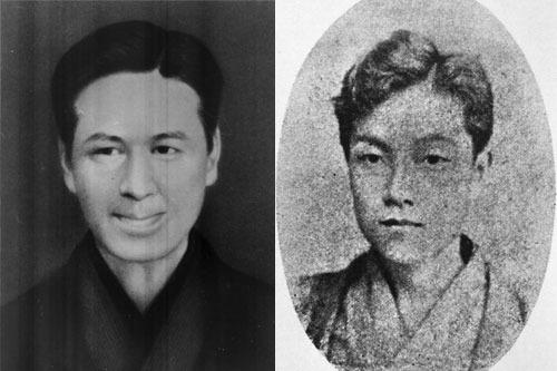 千葉卓三郎(左)と深沢権八(右) 画像提供/あきる野市図書館