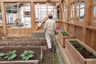 木製のハウス栽培をしている。引いてきているのは海水。どちらの情報もはじめてすぎて、何もつっこめなかった