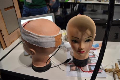 ライター北村さんの「あたマウス」マネキンの頭部がマウスになっているという一品。北村さんは「記事にしてないので説明するのがいちいち大変」と漏らしていた。