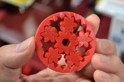 こんな複雑な形のギヤも3Dプリンタで作れる……