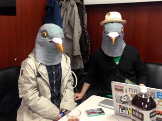 カルチャーカルチャー楽屋にて、左・八谷和彦さん、右・AR三兄弟川田さん