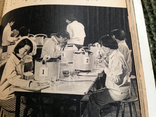 77年46号「保温式電気炊飯器をテストする」。保温機能がついたものが普及し出した模様。どれも「まあまあ」との判定