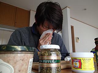グリーンペッパーを食べるとくしゃみが止まらなくなる体質だということも発見でした。