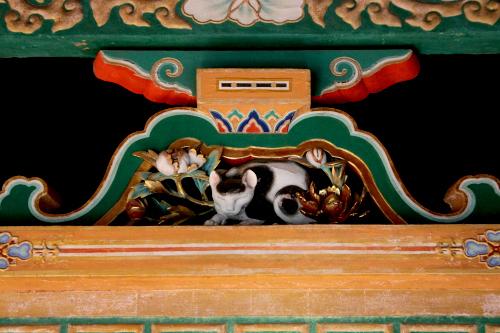伝説の大工「左甚五郎」の眠り猫も、もちろんあるよ
