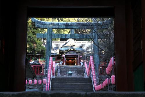 さらに進んでいき、門の奥に見えたのが久能山東照宮の社殿
