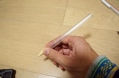 パイプも適当な長さに切ると、見た目は既にペン