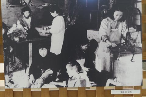 戦後20年代の納豆工場のようす