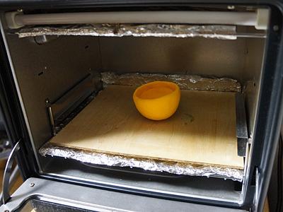 少しづつ作って、オーブントースターで焼いて固める。