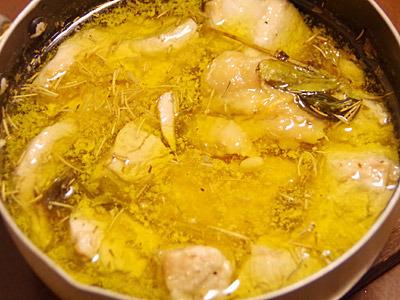 七面鳥の油スープ煮ですね。