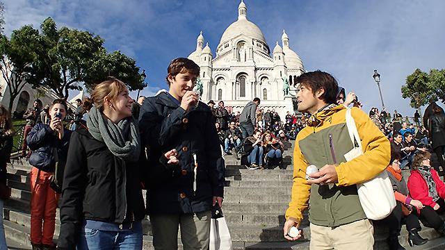 Sai.mignon(サイ ミニヨン):「いいね!good!」  くさや:「サプー!!(帰ってから調べたらフランス語で「くさっ!」という意味らしいです。正解。)」