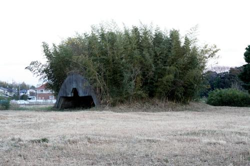 その近くにあった、ハリネズミのような掩体壕