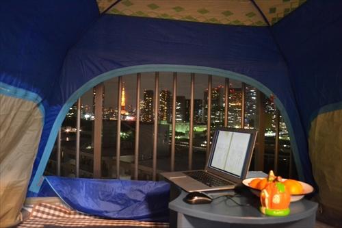 テントの中のようす