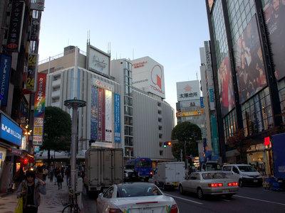 渋谷の東急百貨店。