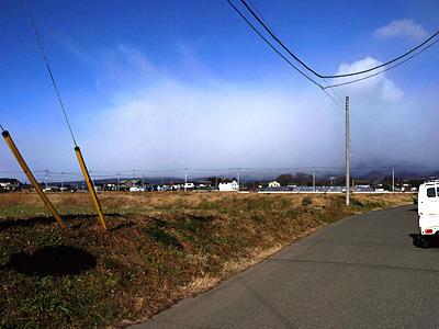 なんてったって、赤城山が雪で見えなくなっており、そこから強い風が吹いてくるのだ。
