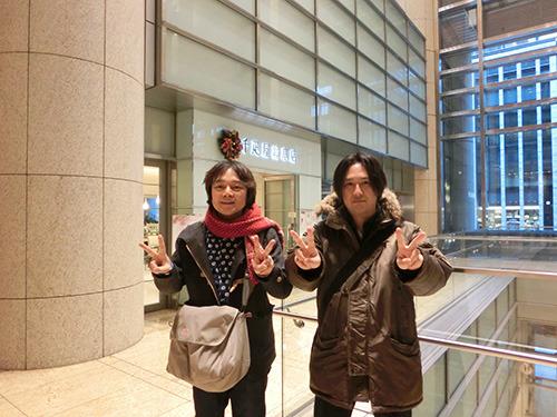 林裕さんと林雄司。ダブル林によるダブルピース。