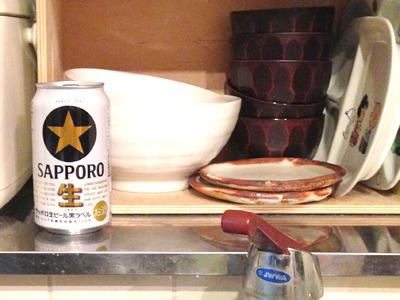 今日は買ってきたビールをその辺に置く。これだけのことなのになんだかわくわくする…