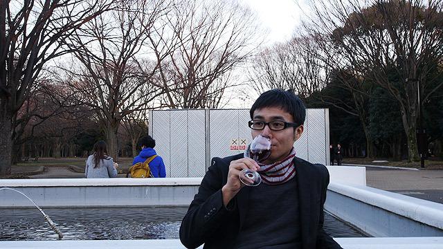 ワインを飲んで、
