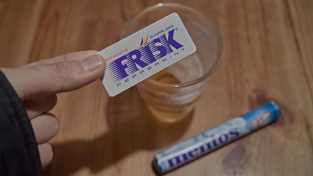 フリスクでも試してみたけど飴の方がおだやかでおすすめです。