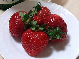 イチゴと日本酒(馬場吉成)