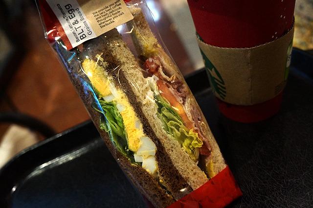 そんな橋田さんはサンドイッチを食べて