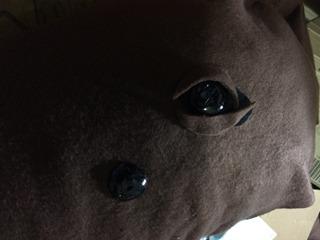 BS漫画夜話『弥次喜多inDEEP』の回で「動物の目はだいたい真っ黒」と言ってたのをなぜかおぼえていて真っ黒にしたらリアルに。